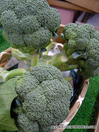 The broccoli in Japan looks large and beautiful