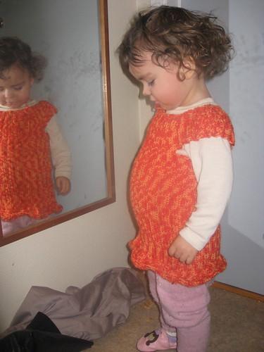 Kjolevest i spegelen