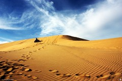 dunes (erickespinosa) Tags: blue sky sun bike photo sand shoot desert dune quad atv sanddunes doha qatar quadbike