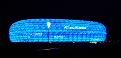 Allianz Arena in Munich (Claude@Munich) Tags: blue night germany munich mnchen geotagged bayern deutschland bavaria football nacht stadium soccer oberbayern upperbavaria illumination arena blau hdr beleuchtung allianzarena nachts fusball frttmaning fcbayernmnchen 1860mnchen claudemunich geo:lat=48214665 fusballstadium geo:lon=11624007