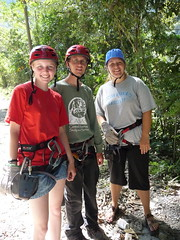 Anna, Michael and Jenae on their canopy tour.