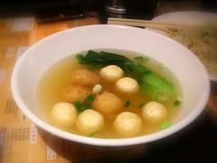 雙寶靚湯(蝦球,魚蛋)