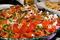 米洛斯-番茄青椒沙拉配羊乳酪