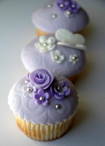 Lavender Floral Cupcakes