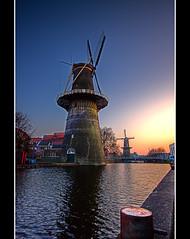Giants - Schiedam (DolliaSH) Tags: holland mill netherlands windmill dutch photoshop canon la