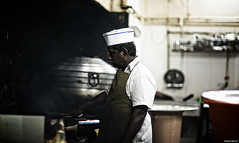 Vers Les Montagnes | 103.365 (Stephan Geyer) Tags: street kitchen canon fire dubai candid indian cook 85mm chef 5d canon5d cafeteria canoneos5d shortorder project365 8512 85l ef85mmf12lusm canon5dclassic