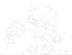 Sonic the Werehog 2 (Yang Watanabe) Tags: this is drawing think sonic best i werehog