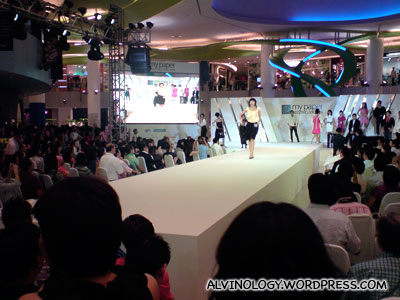 The ladies doing their catwalk