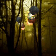 ~:::~ faerie lanterns ~:::~ (xandram) Tags: mist forest photoshop lanterns distillery idream theunforgettablepictures stealingshadows artistictreasurechest graphicmaster altrafografia selectbestexcellence obramaestra sbfmasterpiece featuredwinner