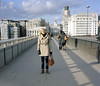 my sister (liz kaufman) Tags: bridge 6x7 riverthames londonuk mamiya7 kodak160nc samkaufman lizhkaufman lizkaufman elizabethkaufman