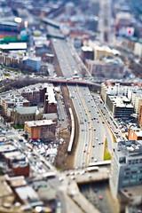 [フリー画像] [人工風景] [道の風景] [ティルト・シフト] [街の風景] [アメリカ風景]      [フリー素材]