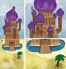Desert Tower (wanderingbert) Tags: mountains tree tower castle water persian sand desert drawbridge russian moat