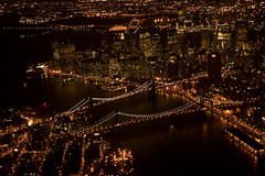 (Matthew Flannery) Tags: from newyorkcity brooklyn night manhattan air financialdistrict brooklynbridge manhattanbridge eastriver matthewflannery