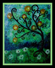 Finished Yoga Tree Painting/Sculpture (ARTerEgo) Tags: collage mixedmedia acrylicpainting treeart yogaart apoxiesculpt