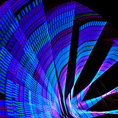 m-2420 Nocturnal Wheelies (tengtan (away awhile)) Tags: pink blue motion wheel night lights movement colours nocturnal bright geometry patterns magenta melbourne kinetic ferriswheel rotation teng rotated oberflchen kineticphotography wheelies anawesomeshot auselite colourartaward goldstaraward tengtan
