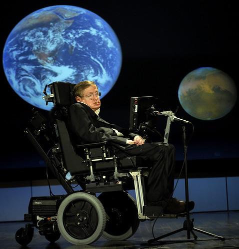 Stephen Hawking at NASA 50th anniversary