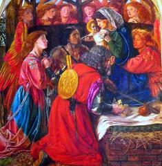 Nativity, Llandaff (robin.croft) Tags: painting triptych mary angels nativity burnejones bvm dantegabrielrossetti rosetti preraphaelites janeburden