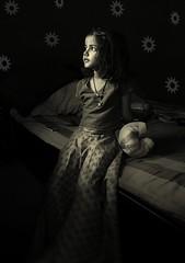 sunflower (nandadevieast) Tags: travel portrait bw india girl face kid sunflowers anuragagnihotri nandadevieast