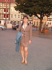 Domplatz (Marie-Christine.TV) Tags: woman leather lady tv erfurt feminine coat skirt tgirl business suit transvestite secretary elegant feminin businesswoman domplatz mariechristine skirtsuit womans