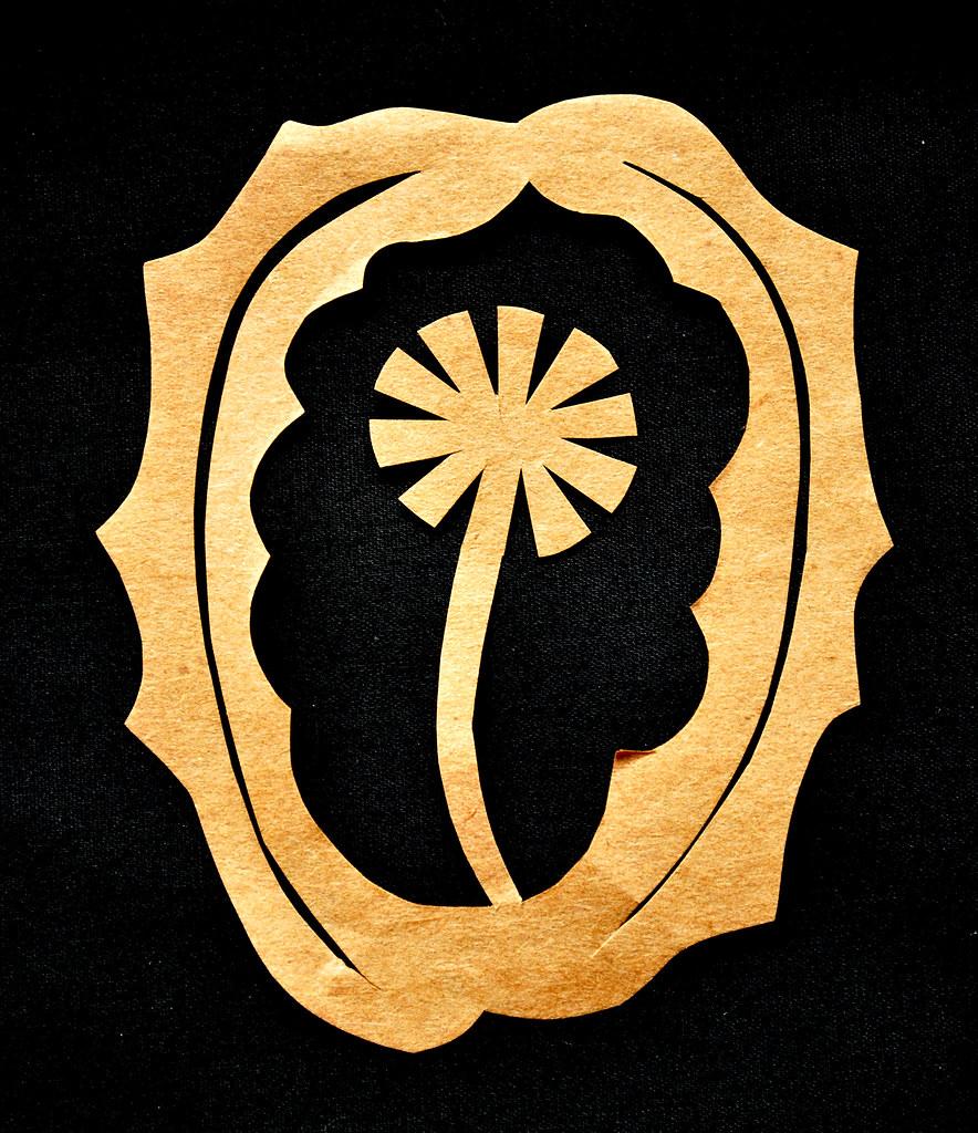 papercutting dandelion