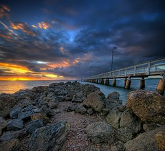 Before the Rain (Christolakis) Tags: sunrise pier jetty soe hdr wellingtonpoint sigma1020 supershot mywinners canon400d anawesomeshot vertorama paramangroup