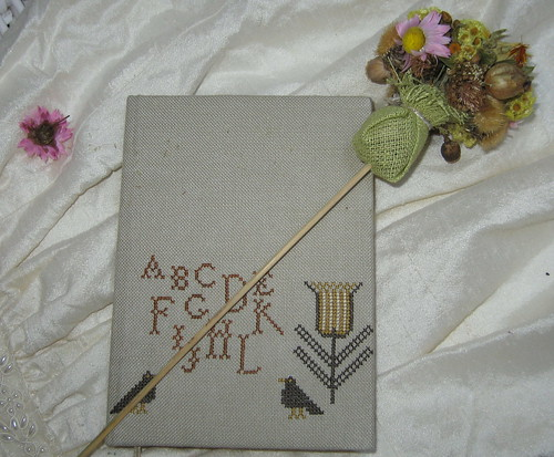 Notebook with motives from Pins&Tulips Pincushion. BBD
