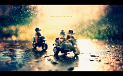 The Last Crusade (isayx3) Tags: sun wet water senior train 35mm vintage toy toys nikon glare lego bokeh indy cycle legos flare junior chase motor f2 nikkor motorbikes indianajones d3 hbw thelastcrusade youshoulduploadittwicesoicanfaveitmorethanonce plainjoestudios