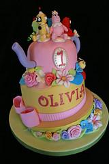 Teapot & Yo Gabba Gabba Themed Fondant Cake (waybeyondcakes) Tags: birthday animals cake tea chocolate yo teapot figures fondant gumpaste gabba mayen waybeyondcakes