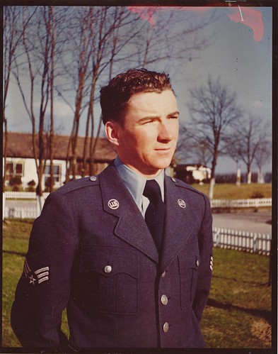 Air Force Sgt. Mike Doyle, circa 1950, Erding Air Force Base, Germany