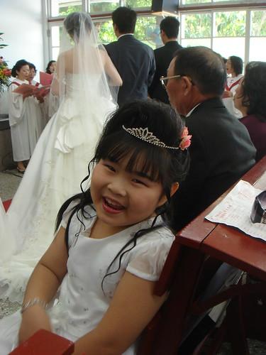 Flower Girl Smiles for Lawrance