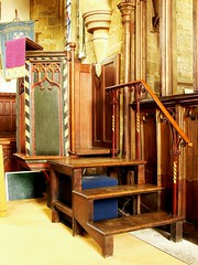 Perpendicular style pulpit. All Saints - Middleton Cheney