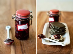 (joyce_l) Tags: home cooking fruit wine sweet fresh goatcheese savory strawberrypreserves charcoalcracker