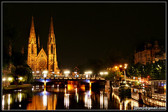 Strasbourg -Nocturne (Hatuey Photographies) Tags: france church night strasbourg ill alsace nuit eglise ineffable 1001nightsmagiccity hatueyphotographies eglisesdestrasbourg ©hatueyphotographies
