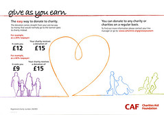 CAF Give As You Earn material, May 2009 [Photo by HowardLake] (CC BY-SA 3.0)