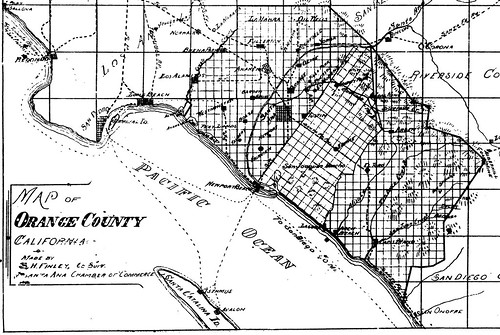 Map of Orange County, 1900