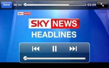 Sky News iPhone app video player