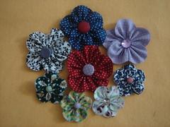 Fuxico Flor pétala aberta pronta (Minhas Crias) Tags: flores artesanato fuxico pap tecido retalho trabalhosmanuais passoapasso floraberta