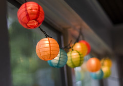 Rainy days and summer nights. (Toni McLellan) Tags: color home 50mm lights screen lanterns homestead frontporch nikkor50mm18 makearoo
