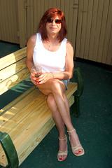 Out By the Tiki Bar at Georgies (Scarlet Munro) Tags: sexy scarlet tv cd transvestite crossdresser outandabout crossdress scarletmunro