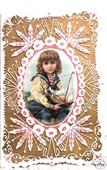 Vintage Valentine card boy wih sailboat (oldsailro) Tags: park old boy sea summer people sun lake playing beach water pool girl sunshine youth sailboat race vintage children fun toy boat miniature wooden pond model waves sailing ship child time yacht antique group valentine boom mat card regatta hull spectators watercraft bot adolescence keel fashioned