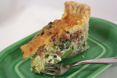 Broccoli and Green Garlic Quiche
