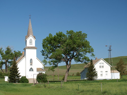 Sims ND Church and Parsonage