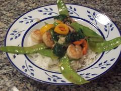 Shrimp Stir Fry with Snow Peas
