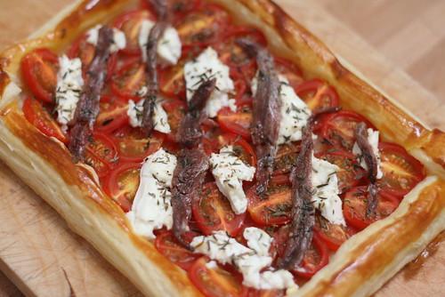 Tarte  feuilletée aux tomates-cerises 1