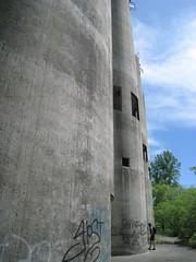Power Plant Stacks (Boumtown) Tags: centuryride umorepark gopherordanceworks rosemountmn bikeride20090524 flickr20090616