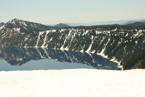 Crater Lake Snowy Bank