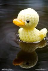 Darla the Duckling (WooWork.com) Tags: swan duckling amigurumi darla wooworkcom