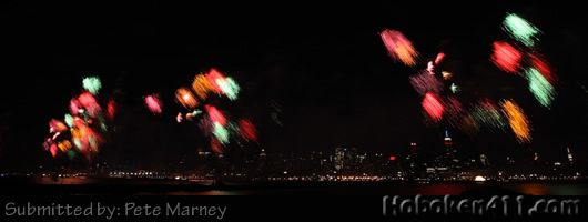 Hoboken Macys Fireworks Reader Photo Pete Marney