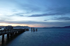 Abandoned Pier (arka02) Tags: california blue sunset abandoned water night clouds golden bay pier gate san francisco view fort mason