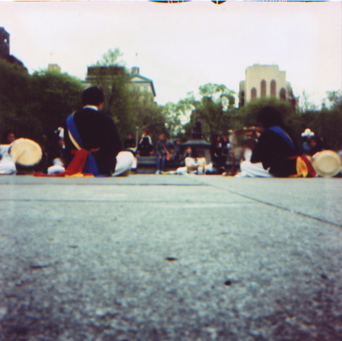Korean drummers, Washington Sq park